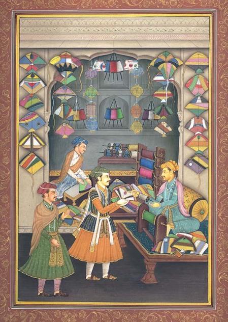 arte-mogol-miniatura-con-tienda-de-barriletes1